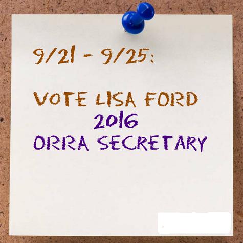 Vote Lisa FORD 2016 ORRA Secretary